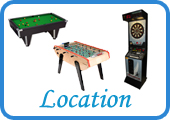 Location de billard, baby-foot, cible fléchettes, Air Hockey